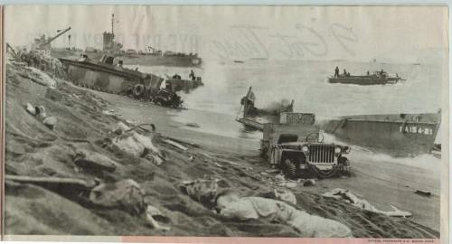 My Dad, Keith Albers, believes this was his boat washed up on the beach at Iwo Jima. H could not remember his boats number but number but recalled being aground for two day during the battle. This picture was taken by Joe Rosenthal, the same man who took the flag raising picture on Suribachi.